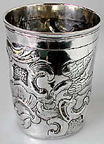Antique silver beaker