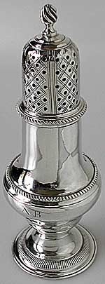 Antique silver caster