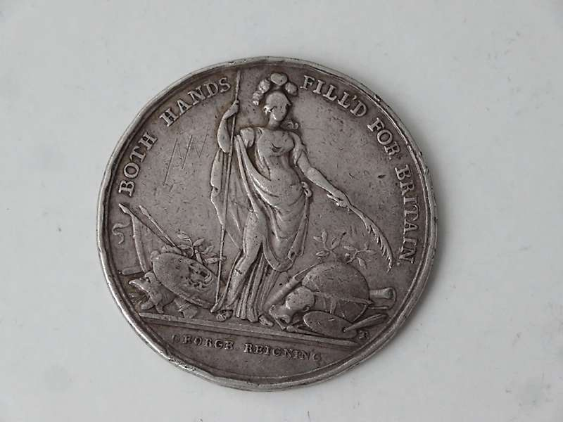 Antique silver medals, counters, and tokens