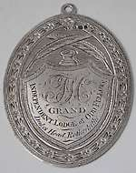 Oddfellows badge secretary 1796