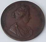 Bronze medal Mary II death 1694