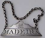 wine label threaded border for MADEIRA circa 1810