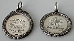 Antique silver school medal