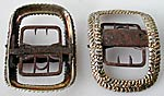 pair silver-gilt shoe buckles